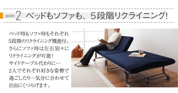 ベッドもソファも5段階リクライニング
